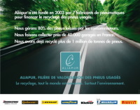 Mondial du Deux-Roues : Aliapur main dans la main avec Bridgestone, Dunlop et Michelin
