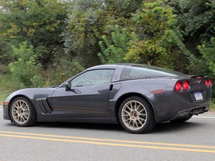 Les mulets de Corvette C7 de sortie