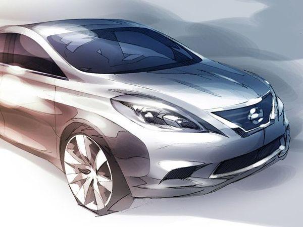 Future Nissan Versa : d'abord le dessin ...