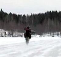 Vidéo moto : Stunt sur glace
