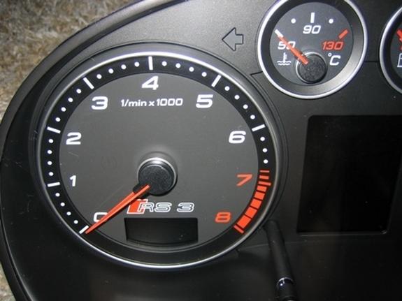 Audi RS3 : un compteur de vitesse gradué jusqu'à 310 km/h