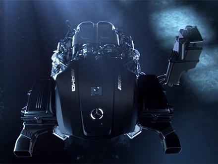 Future Mercedes AMG GT: moteur!