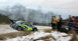 WRC Suède SuperSpéciale : Du bleu sur la neige