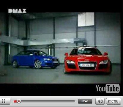 Vidéo : Audi RS4 contre Audi R8, test intestin