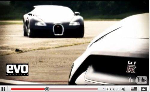 [vidéo] : Nissan GT-R vs Bugatti Veyron : non quand même pas ?