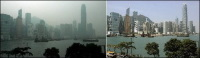 Hong Kong : la pollution, attention danger !