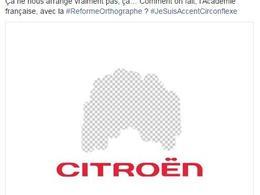 Réforme de l'orthographe: Citroën met les point sur les i