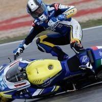 Moto GP 2010: Raffaele De Rosa champion du monde des chutes