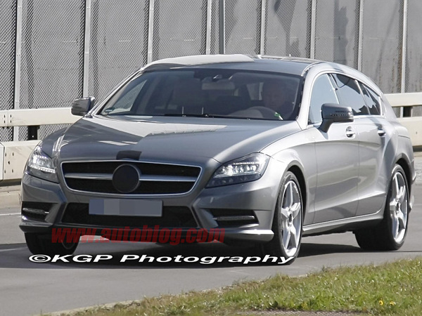 Surprise : le Mercedes CLS Shooting Break de série montre ses lignes