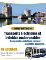 La Rochelle : le 28 novembre, le colloque Transports Electriques et Hybrides Rechargeables