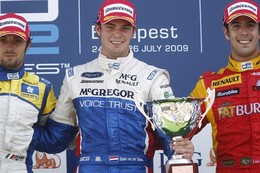 GP2 Hongrie Course 2 : Van der Garde signe sa première, Grosjean 4e aux forceps