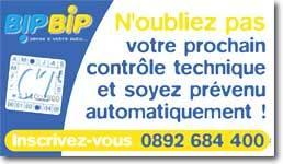 Bip Bip, le service qui pense au   contrôle technique pour vous