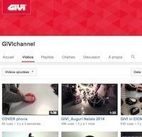 Givi: une chaîne You Tube disponible