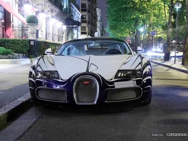 Photos du jour : Bugatti Veyron Grand Sport l'Or Blanc