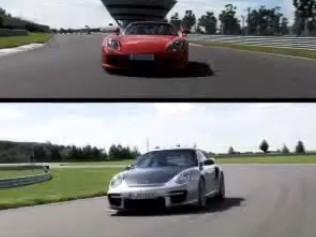 [Vidéo] Le duel qu'on attendait, Porsche Carrera GT contre GT2 RS