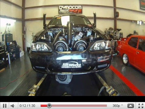 Ford Mustang Twin Turbo Team Guss : gros poumons