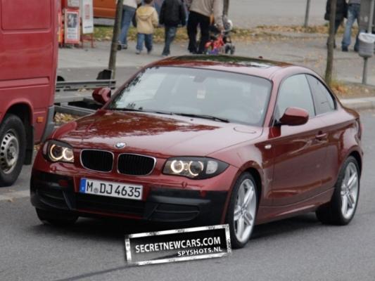 Spyshot : restylage à venir pour la BMW Serie 1 Coupé