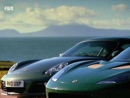 5th Gear : Porsche Cayman vs Lotus Evora, Aston-Martin Vantage N420 Roadster et une Audi Coupé de 2000ch