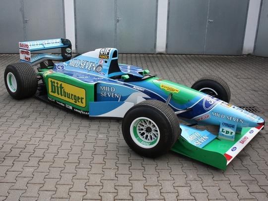 La Benetton Ford BT194-8 ex-Michael Schumacher ( de l'époque où il gagnait ) à vendre