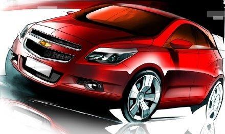 Chevrolet Agile: 1ères esquisses officielles