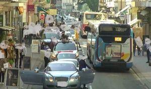 Mariage célébré sur la route, à contresens, en grillant des feux : 11000 € d'amende et 72 points retirés