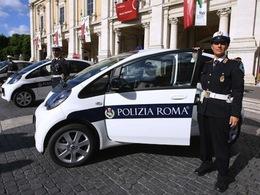 La police de Rome se dote de 14 Citroën C-Zero