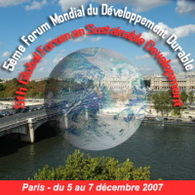 Paris : bientôt le 5e Forum Mondial du Développement Durable