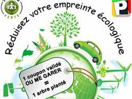 """Stationnement : l'opération """"1 coupon validé 'Où me garer' 1 arbre planté"""" sur le site parking-public.fr"""
