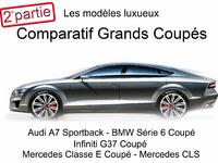 Comparatif grands coupés : les modèles luxueux