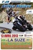 Championnat de France des Rallyes routiers 2013: Coudert s'empare de la Sarthe