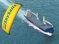 Une voile géante pour éviter l'usage des moteurs sur les bateaux !!
