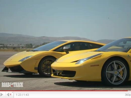 Road&Track : Ferrari 458 Italia vs Lamborghini Gallardo Superleggera