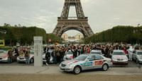 Début du Raid Paris-Pekin en Mercedes Classe E