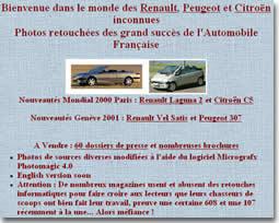 Le site des voitures françaises fictives