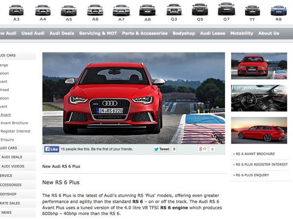 La nouvelle Audi RS6 Plus en avance