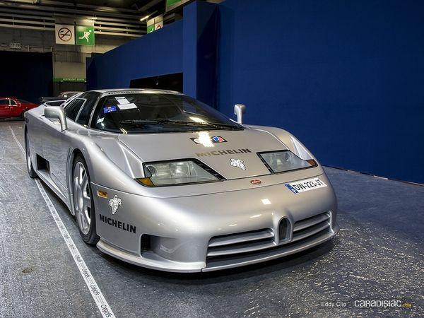Photos du jour : Bugatti EB110 Supersport (Rétromobile)