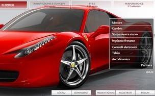 La Ferrari 458 Italia a droit à son site internet