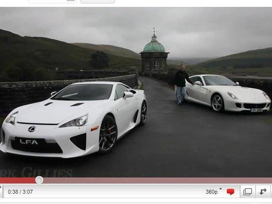 [vidéo] Lexus LFA vs Ferrari 599 HGTE, juste un rêve
