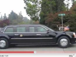Vidéo : Quand Obama se déplace en voiture, il est rarement seul
