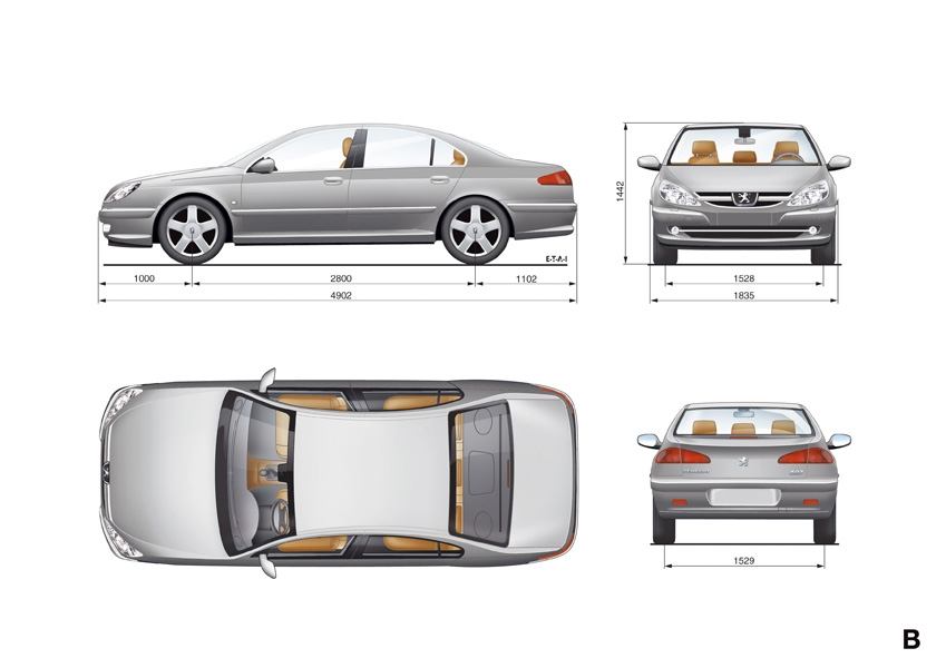Photos peugeot 607 for Interieur 607