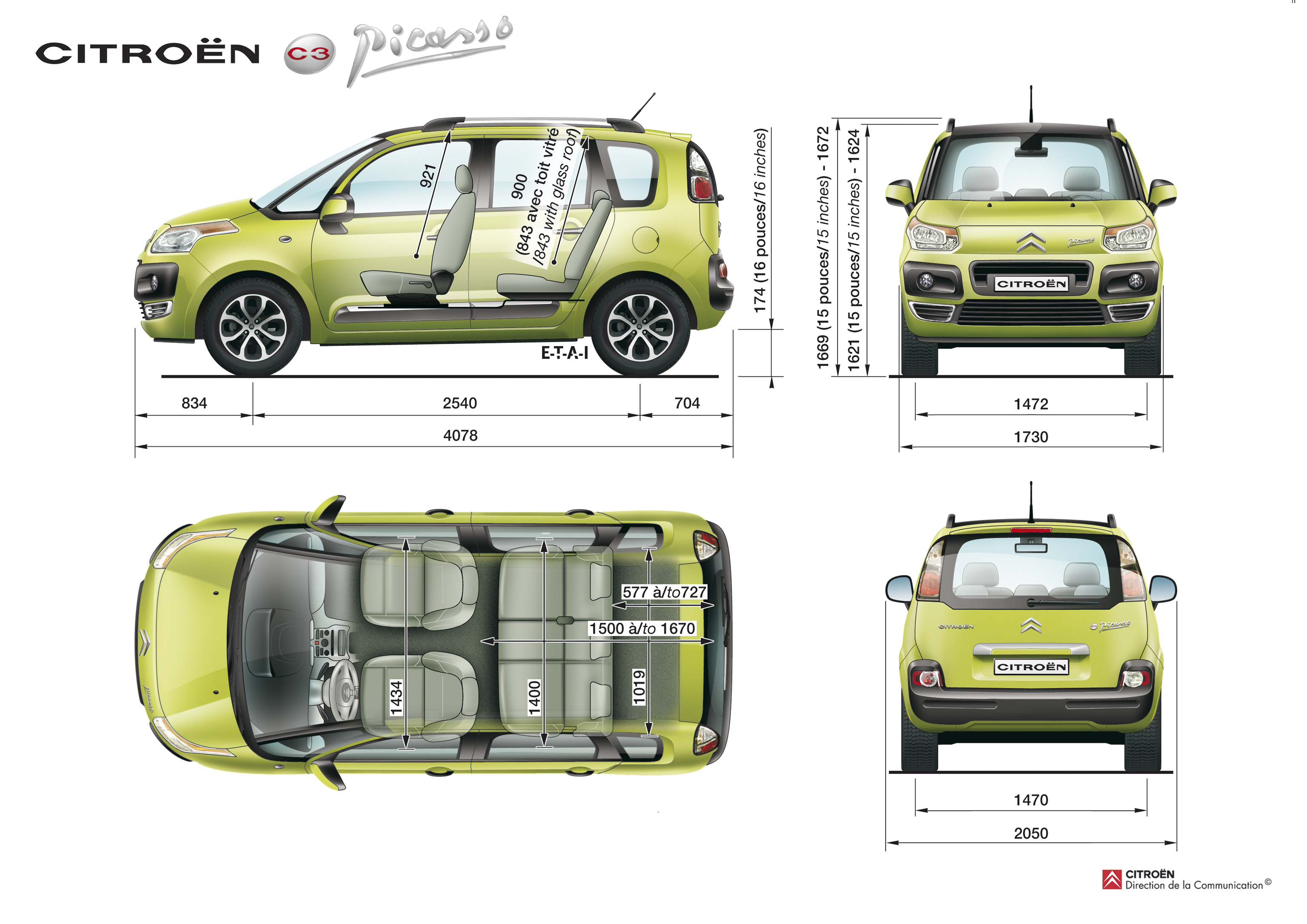photos citroen c3 picasso. Black Bedroom Furniture Sets. Home Design Ideas