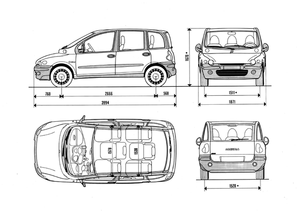 photos fiat multipla
