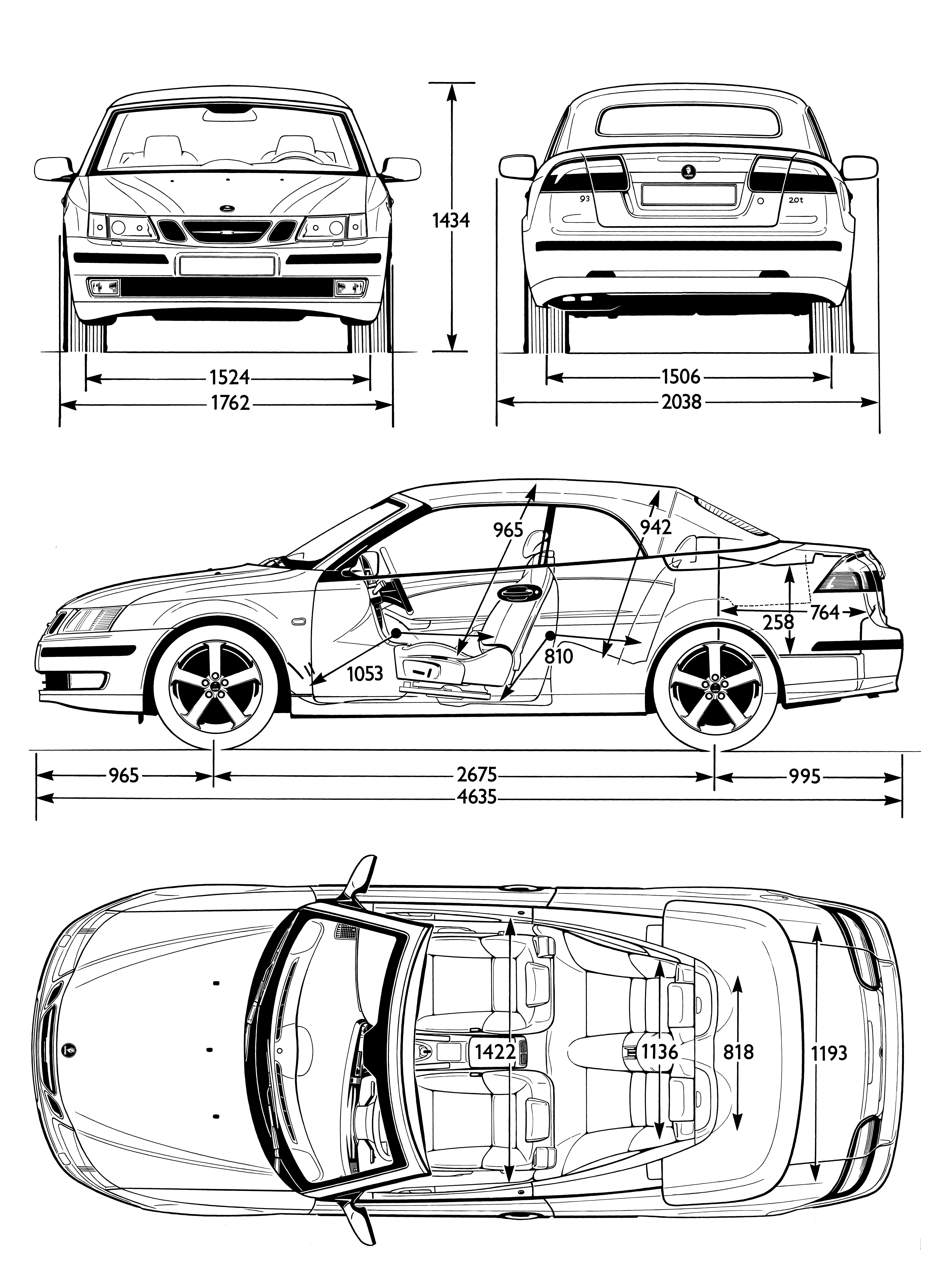 photos saab 9-3 cabrio  2e generation